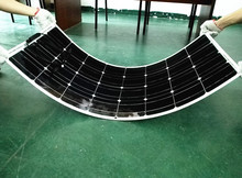 100W pv flexible solar panel 12V solar cell/module/system /car/marine/boat battery charger LED Sunpower light kit