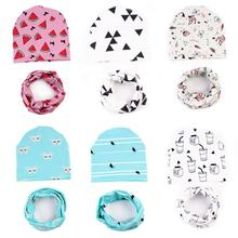 Spring Autumn Cotton Baby Cap Newborn Baby Hat Cute Winter Kids Baby Hats Keep Warm Set Cute Hat Scarf lowest price