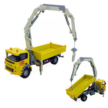 Truck-Mounted Crane Toy 1:60 Diecast Trolley Trucks Car Model Alloy Construction Vehicle Mini Cars Boy Gift Kids Toys Brinquedos