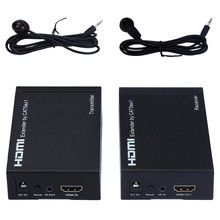 Hot! Superior Quality HDMI Extender Transmitter and Recciver By LAN 100-120meter Over CAT5E CAT6 1080P Jan12