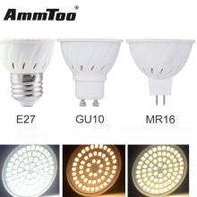 4W 6W 8W GU10 MR16 E27 LED Bulbs Light 220V SMD 2835 Led Spotlights Warm / Cool White / White GU 10 GU5.3 Base LED Lamp 10PCS