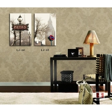 Fashion Art Picture Painting Combination Canvas Set London Paris Stree Scene Decorative Drawing Unframed Modern Mural home decor