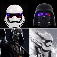 Ultimate Star Wars Darth Vader Storm Trooper Luminous Mask Empire Clone Soldiers Party Cosplay LED Light Mask Party fun toys