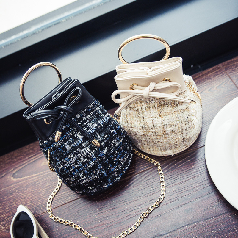 2017 new handbag fashion brand design sweater chain bucket sequins Single Shoulder Bag Messenger Laptop Bag Free shipping<br><br>Aliexpress