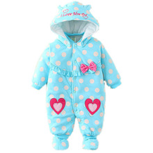 2016 Autumn Winter Baby Rompers Bear  baby coral fleece brand Hoodies Jumpsuit baby girls boys romper newborn toddle clothing