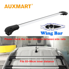 Auxmart Universal Car Roof Rack Cross Bars 93~99cm with Anti-theft Lock Auto Roof Rails Racks Bar Load Cargo Luggage Carrier(China)