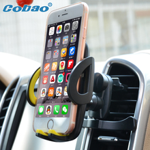 Cobao universal car phone holder air vent holder stand support for apple Iphone 5 5s 5c SE 6 7 plus Galaxy xiaomi redmi Huawei(China)