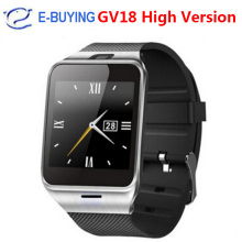 GV18 Smart Watch Android Bluetooth Sport Pedometer Camera Fitness Bracelet Touch Screen Smartwatch Mobile Phone Support Hebrew
