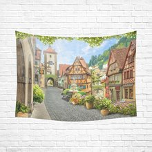 WARM TOUR Europe Life Home Decor Wall Art, Italian View Venice Floral Street Tapestry Wall Hanging Art Sets 80 X 60 Inches(China)