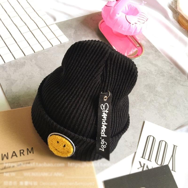 2016 Autumn Winters Gorros Cute Smile Labeling Knitted Hat Harajuku Men And Women Beanies  Oudoor Ski Warm Winter Hats For WomenÎäåæäà è àêñåññóàðû<br><br><br>Aliexpress