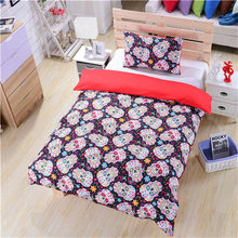 3D Skeleton Bedding Pillow Duvet Cover Bedding Fabric luxury Comforter Set Duvet Cover Home Textile Queen king Full Twins size(China)