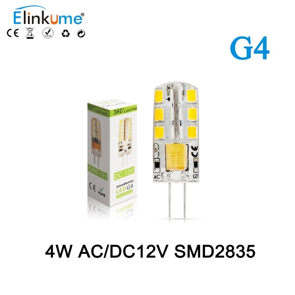 1pcs/lot G4 AC DC 12V Led bulb Lamp SMD 2835 4W Replace 10w 30w halogen lamp light 360 Beam Angle luz lampada led Warm White<br><br>Aliexpress