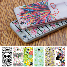 Rose Pattern Case For Samsung Galaxy J5 2016 J3 J7 J1 Mini A7 A5 A3 Grand Prime S7 Phone Cover For iPhone 5S 5 5C 7 6 6S Plus(China)