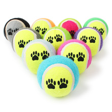 2016 New Pet Puppy Chew Toy Ball Pets Tennis Double Color Rubber Throw Small Dog Training Toys Diameter 6CM Outdoor Sports Balls