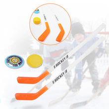 Outdoor Toys Ice Hockey Stick Training Tools 4pcs/sets 2xSticks 2xBall Street Sports and Entertainment Puzzle Toy Plastics #N