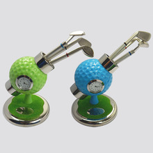 personalized golf ball design desktop golf pen and pen holder golf watch gift with mini club pen free shipping(China)
