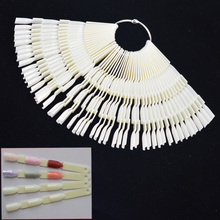 150 Tips Nail Art Display High Quality 3 Knots Fan Board Color Chart for UV Gel Polish False Tips Sticks Practice Tools CH414(China)
