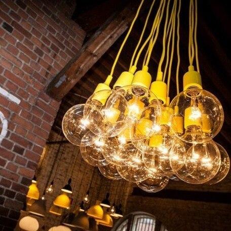 Brief transparent bulb pendant light bar lamp aisle lights lighting<br><br>Aliexpress