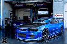 Modified Cars - Nissan Skyline R34 GTR Luxury Racers  Poster