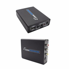 HD Video Converter 1080P HDMI To 3 RCA AV CVBS Composite S-Video R/L Audio Converter Adapter AV / S terminal to HDMI Conversion