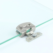 Wholesale DHL 40PCS Large Size Glass Door Hinges Zinc Alloy Glass Hinge Brushed Hinge Apply Glass Thickness 8-10mm JF1142