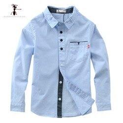 Хлопковая рубашка для мальчиков, с карманом