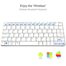 Ultra-thin Bluetooth 3.0 Wireless Keyboard Rechargeable lithium battery for iPad  Mac Computer PC Macbook  Office Home Use