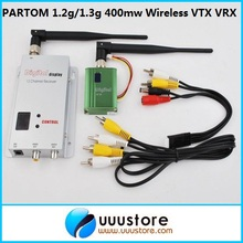 PARTOM 900Mhz 1.2Ghz 1.3Ghz 400mW 8CH Wireless Audio&Video AV transmitter and 12ch Receiver FPV Combo(China)