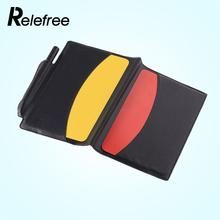 Relefree Red/Yellow Cards Wallet Soccer Pencil Notebook Set portable Sport equipment(China)