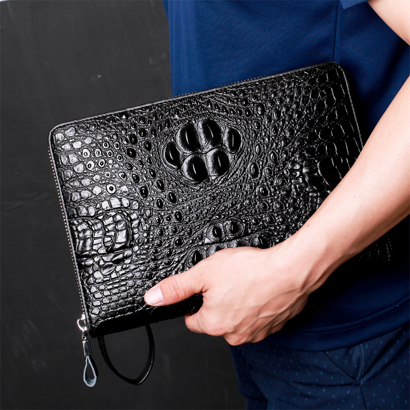 Top Quality leather long wallet men pruse male clutch wallets men money bag pocket mltifunction alligator Multi-bit money clip <br>
