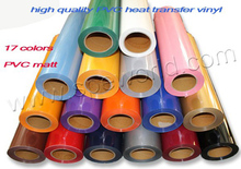 11 meters PVC Vinyl from Korea, PVC heat transfer film pick 11 colors out of 17(China)
