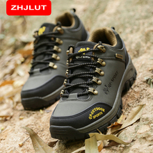 ZHJLUT Original Men's Outdoor Hiking Shoes Boots Trekking Mountain Shoe Autumn Winter Athletic Sports Rubber Sneakers 816