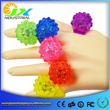LED Light Up Jelly Rings Glow Blinking Crown Finger Rings Fun Party Decoration Cosplay Accessories(China)