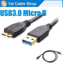 6ft USB 3.0 Micro B Sync data charger cable for WD Hitachi Seagate external hard drive for samsung Samsung Note 3 S5 etc.