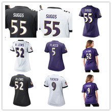 Women's Terrell Suggs Justin Tucker C.J. Mosley Eric Weddle Joe Flacco Brandon Williams Custom Ravens Women Jerseys(China)