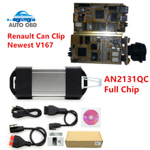 New Arrival AN2131QC Gold PCB For Renault Can Clip Full Chip Professional Diagnostic Tool V167 Multi-Languages Can Clip(China)