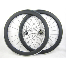 60mm Carbon Wheels Clincher With Alloy Brake Surface R36 Hub Road Bike Carbon Wheelset Aluminum Braking Surface(China)