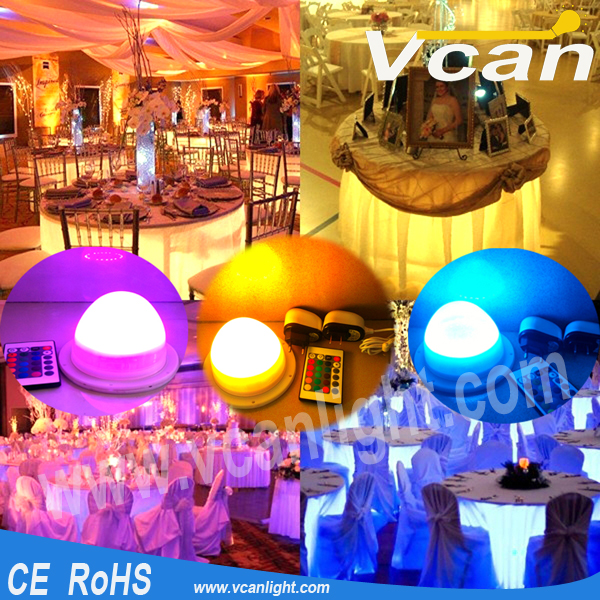 Fast Free Shipping RGB Remote Control Rechargeable Wireless LED Lamp For Party Wedding Decoration<br>