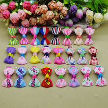 Pet Dog Bows Hair Clips Love Style Doggie Boutique Pet Grooming Hair Accessories 20pcs/lot(China)