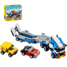 Decool 3114 Vehicle Transport DIY Race Truck building bricks block 3 In 1 Toy Boy Game Model Car Gift Lepin 31033
