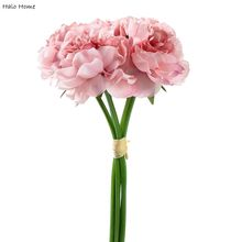 1 Bunsh Silk Artificial Flower Pink Peony Wedding Home Garden Public places Party Festival Celebrations Decor 26cm