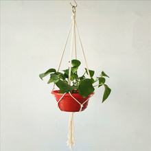 Hemp Pot Hanging Rope Macrame Plant Pot Holder Hanger Home Garden Decoration Hanging Flower Pot Display Indoor Outdoor(China)