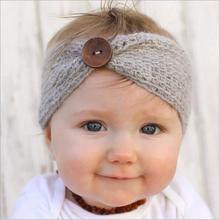 1pcs girl wool knitted headbands winter kids newborn hair head wrap turban headband headwear headwrap hair accessories headdress