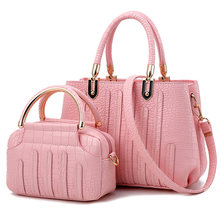 2Pcs/set PU Leather Shoulder Bag Vogue Delicacy Classic Ladies Handbags Cross-body Tote Bag Luxury Graceful Women Messenger Bags