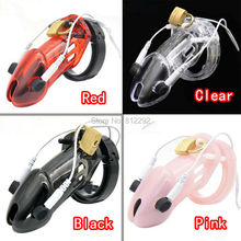 Buy Male Electro Chastity Device Shock Belt Penis Lock Plastic Device Sleeve Adult Sex Toys Cock Cage Men 4 Colors choose