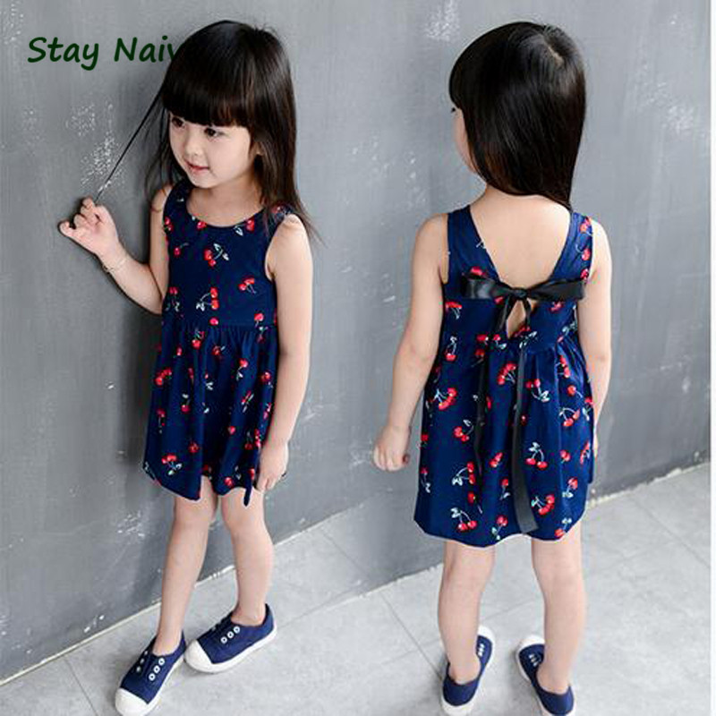 2-10years Baby Girl Dress Clothes Floral Print Girls Dress Summer 2017 Costume Casual Clothes<br><br>Aliexpress