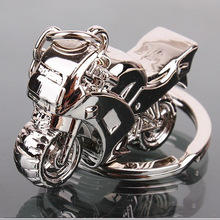 Personalized Fashion  Gift 3D Alloy  Motorcycle Keychain Hot Car Keyring