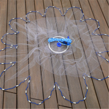 Hand Throwing Fishing Net with Galvanized Steel Lead Sinkers Fishing Network Diameter 2.4-7.2m Hand Cast Fishing Net wth Rings(China)