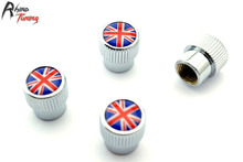 Rhino Tuning One Set Union Jack Logo Styling Chrome Auto Car Wheel Tyre Valve Stem Caps For Car Auto Tire Valve Dust Caps 079