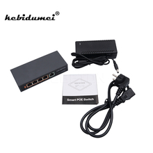 kebidumei New arrival 5 ports poe switch 10/100mpbs IEEE802.3af 4 PoE Switch Power For IP Camera Network Switch Devices(China)